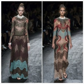 @maisonvalentino channelled his innée Masai warrior for the SS2016 show. Who know lace could be so fierce!  #Sophiehallette #lace #fierce #Valentino #SS2016 #newcollection #maxidresses #africaninspiration