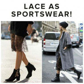 ➡NEW BLOG : LINK ON THE BIO ⬅ Lace can dress up, in a bling of the eye, an overly-relaxed silhouette.  #SophieHallette #lace #streetstyle #street #sportswear #casualwear #oversized #comfy #streetvibes #modern #stillchic