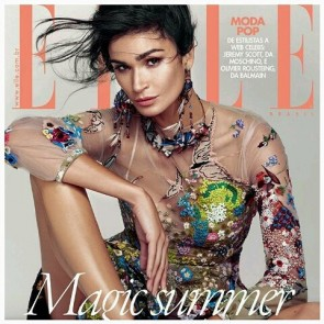Top model Caroline Ribeiro at the front cover of November 2015 ELLE BRASIL magazine showcases our Tulle illusion in the @maisonvalentino dress.  #SophieHallette #lace #maisonvalentino #Valentino #ELLE #ELLEBRASIL#Brasil #CarolineRibeiro #topmodel #Fashion #fashioncover #Covermagazine #November2015 #November