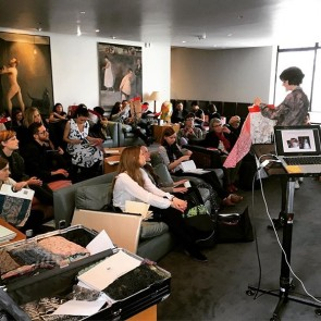 Great talks about lace yesterday in London with the creative students of @royalcollegeofart. Thank you for the warm welcome!  #sophiehallette #lace #royalcollegeofart #london #conference #unitedkingdom #fashionstudents