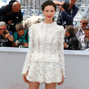 @caitrionabalfe looked resplendent at Money Monster Premiere in her @louisvuitton lace outfit. #sophiehallette #lace #totallacelook #caitrionabalfe #cannes #cannes2016 #festivaldecannes #cannesfilmfestival #moneymonster #filmpremiere