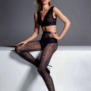 The effortless sophistication of the @wolfordfashion Autumn-Winter 16/17 collection. #sophiehallette #lace #lacetights #wolford #autumwinter17 #newcollection #lingerie