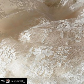 Thank you @silviavalli_  for this poetic picture of Sophie Hallette lace. #sophiehallette #lace #wedding #gown #weddinglace #sophiehallettewedding #bride